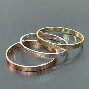 Stainless Steel Bangle Bracelet OSFM  Jewelry
